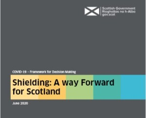 Scottish Government - Shielding - A way forward for Scotland publication cover