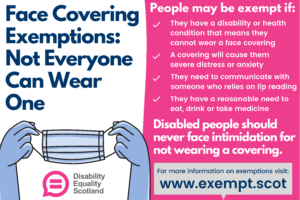 Face Covering Exemption Card Scotland